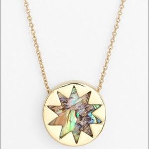 House Of Harlow Abalone sunburst necklace